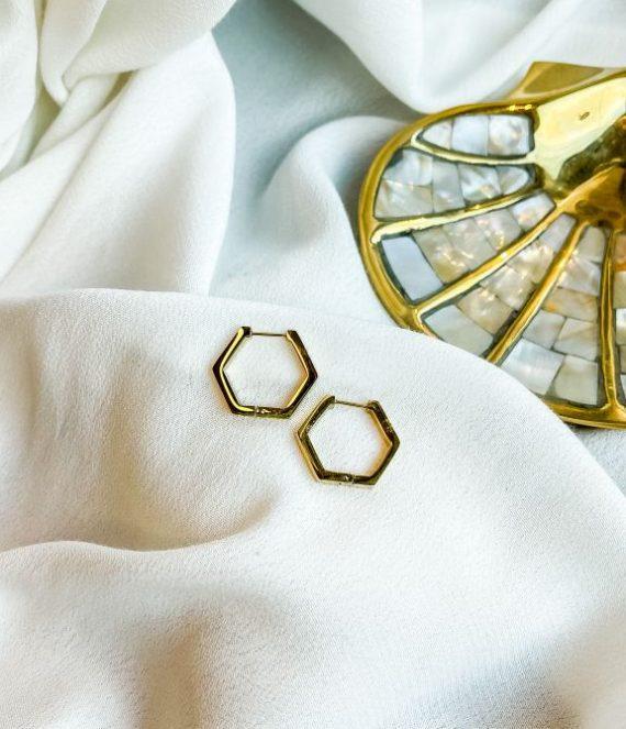 Earrings hexagon | ZAG Bijoux