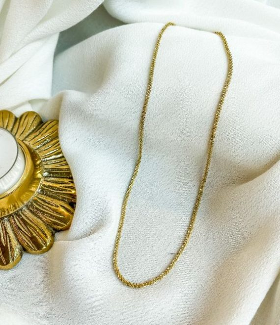 Gold round necklace | ZAG Bijoux