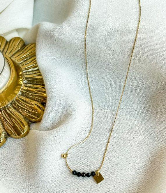 Necklace black onyx | ZAG Bijoux