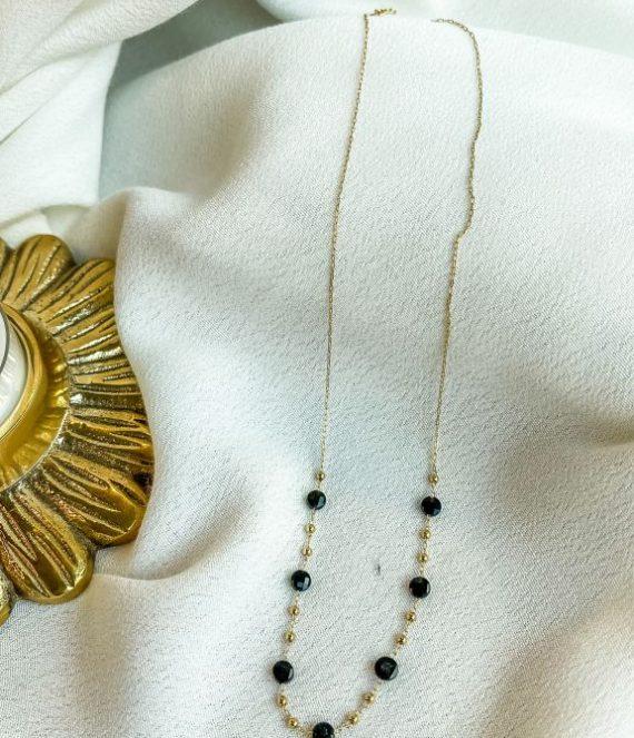 Necklace black onyx drops | ZAG Bijoux
