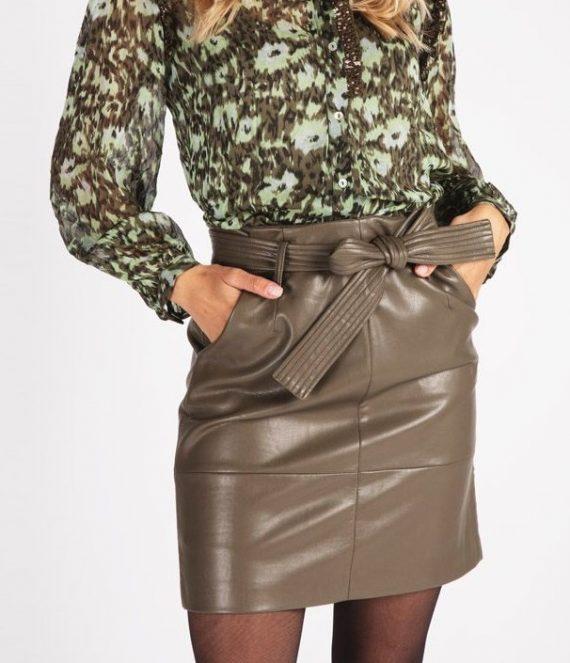 Skirt belt PU army green | Esqualo