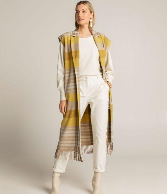 Geruite mouwloze jas | Expresso