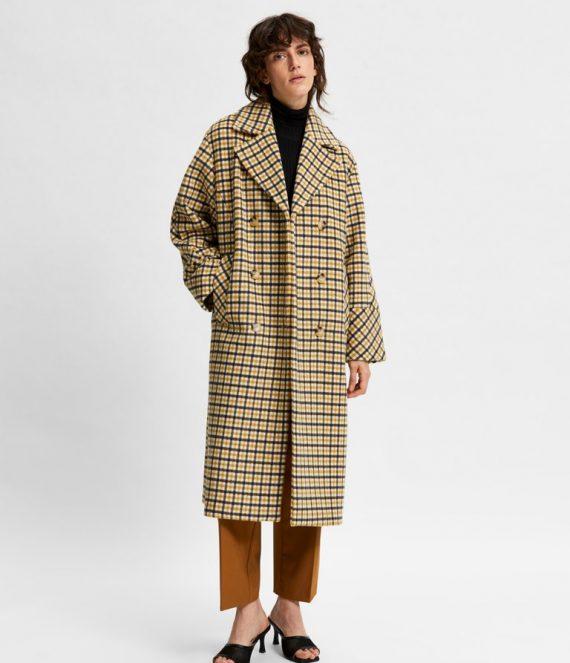 Ellen check wool coat | Selected Femme