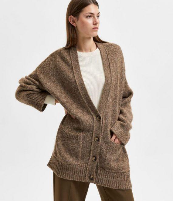 Oversized gebreid vest | Selected Femme
