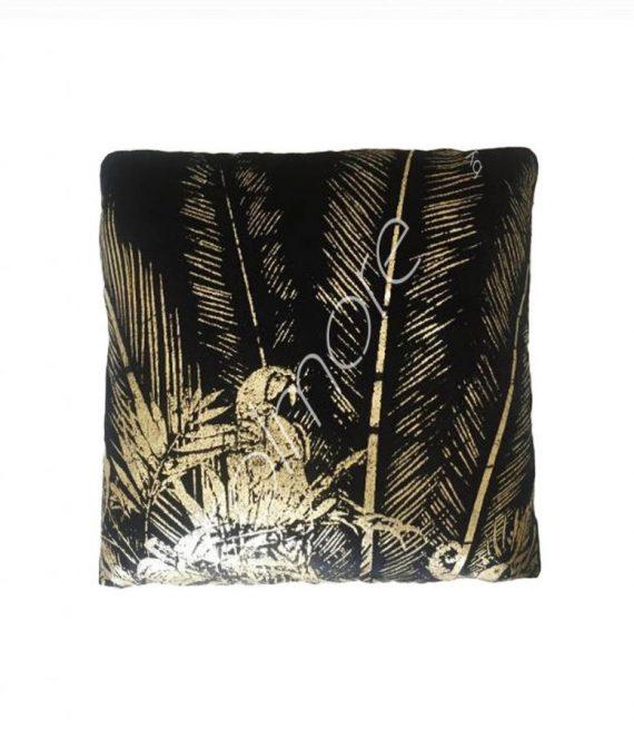 Kussen zwart-goud velvet | Colmore