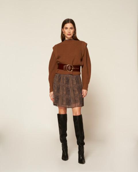 Abigail sweater bruin | Freebird