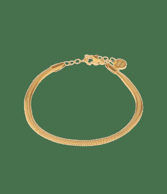 Smooth snake gold bracelet | Label Kiki