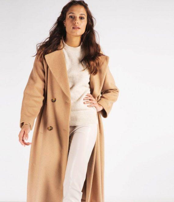 Coat oversized tan | Esqualo