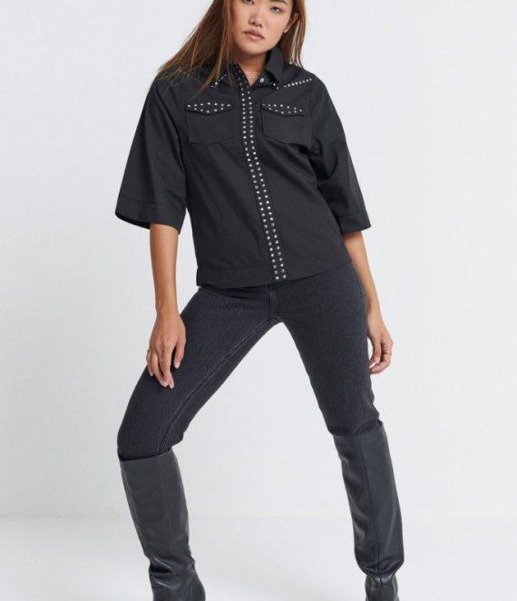 Isa blouse black | Spooq the label