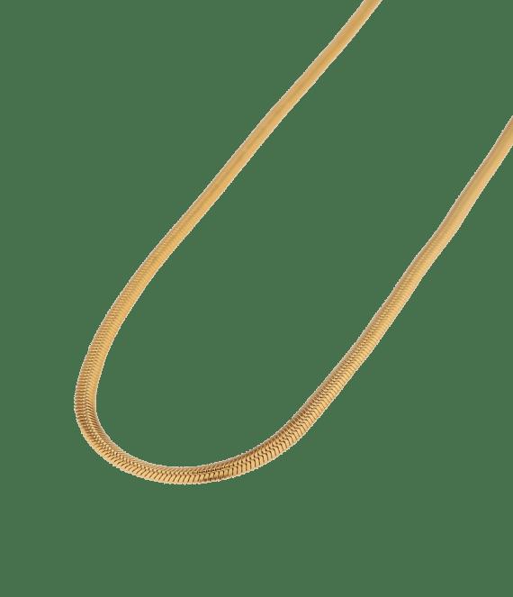 Smooth snake gold necklace | Label Kiki