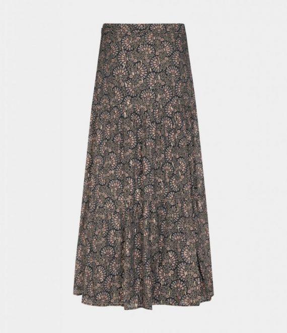 Gold foil print skirt | Sofie Schnoor