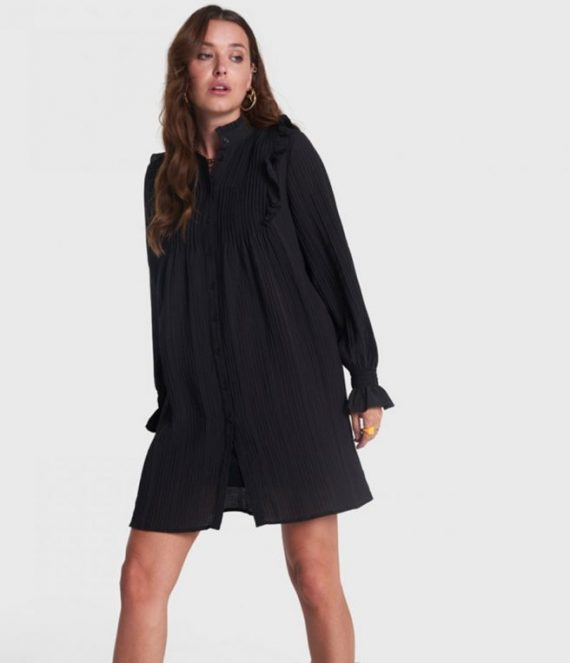 A line dress with pintucks | Alix the label