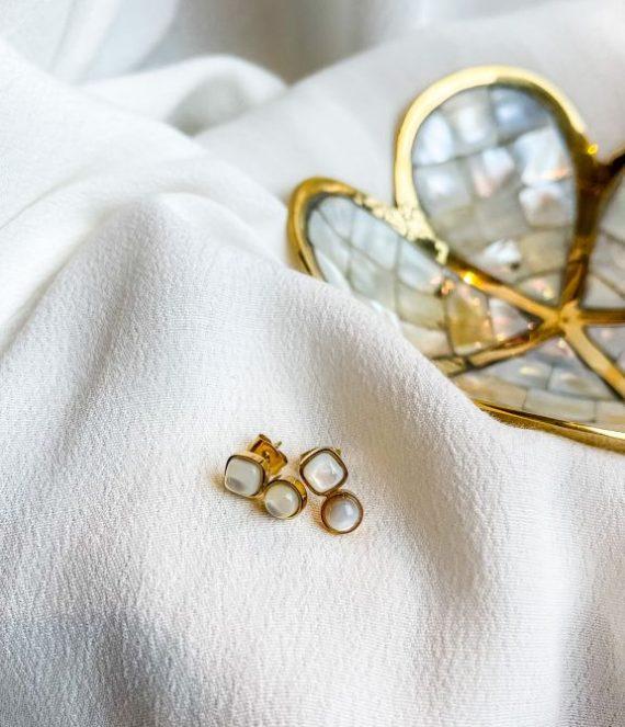 Stud earring gold | Zag Bijoux